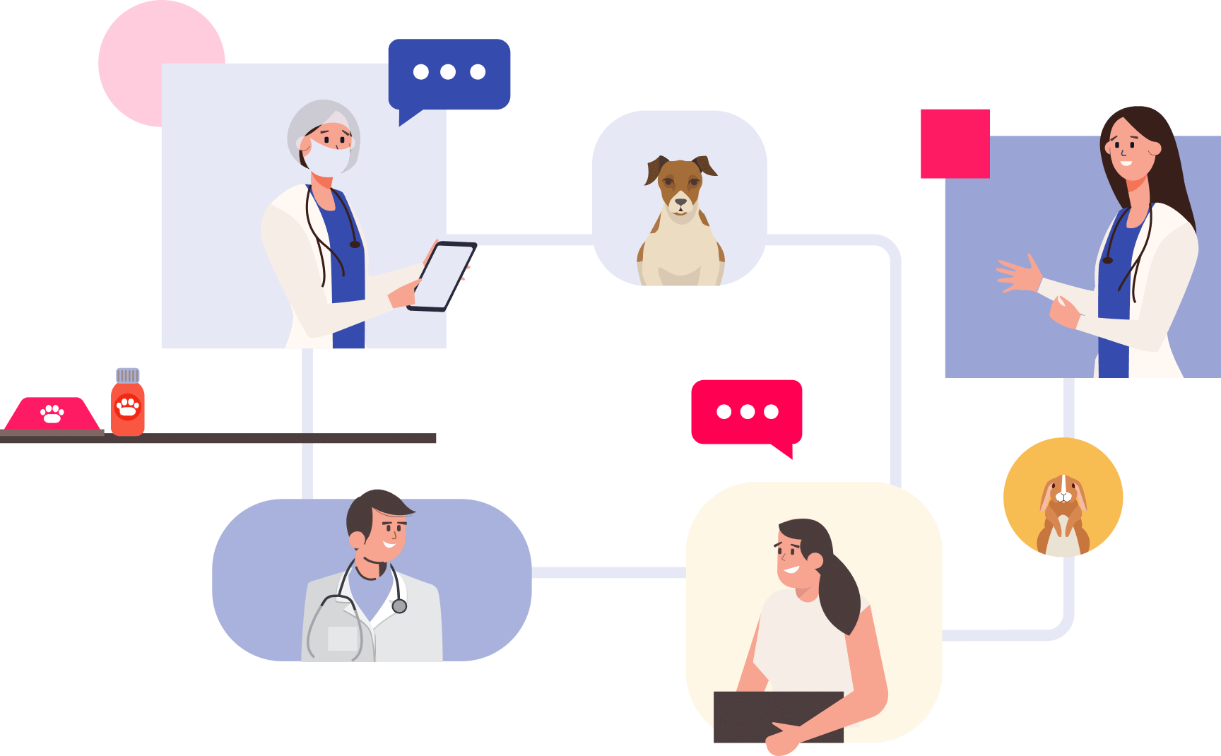 Grafik zu Filialsystemen Tiermedizin